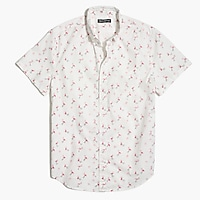 Printed slim flex casual short sleeve shirt