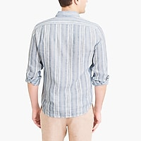 Image 3 for Slim linen shirt in stripe