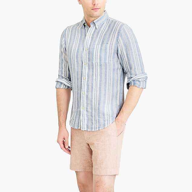 j.crew factory: slim linen shirt in stripe
