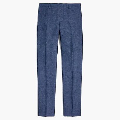 Slim Thompson suit pant in linen