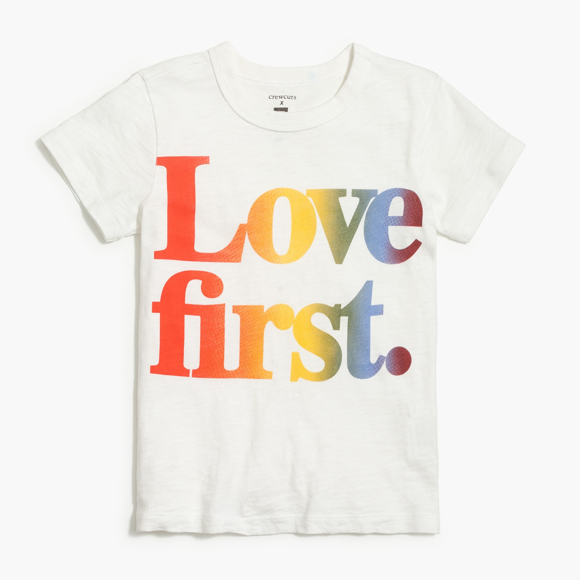 "factory girls Kids'  crewcuts x Human Rights Campaign ""Love First "" T-shirt"