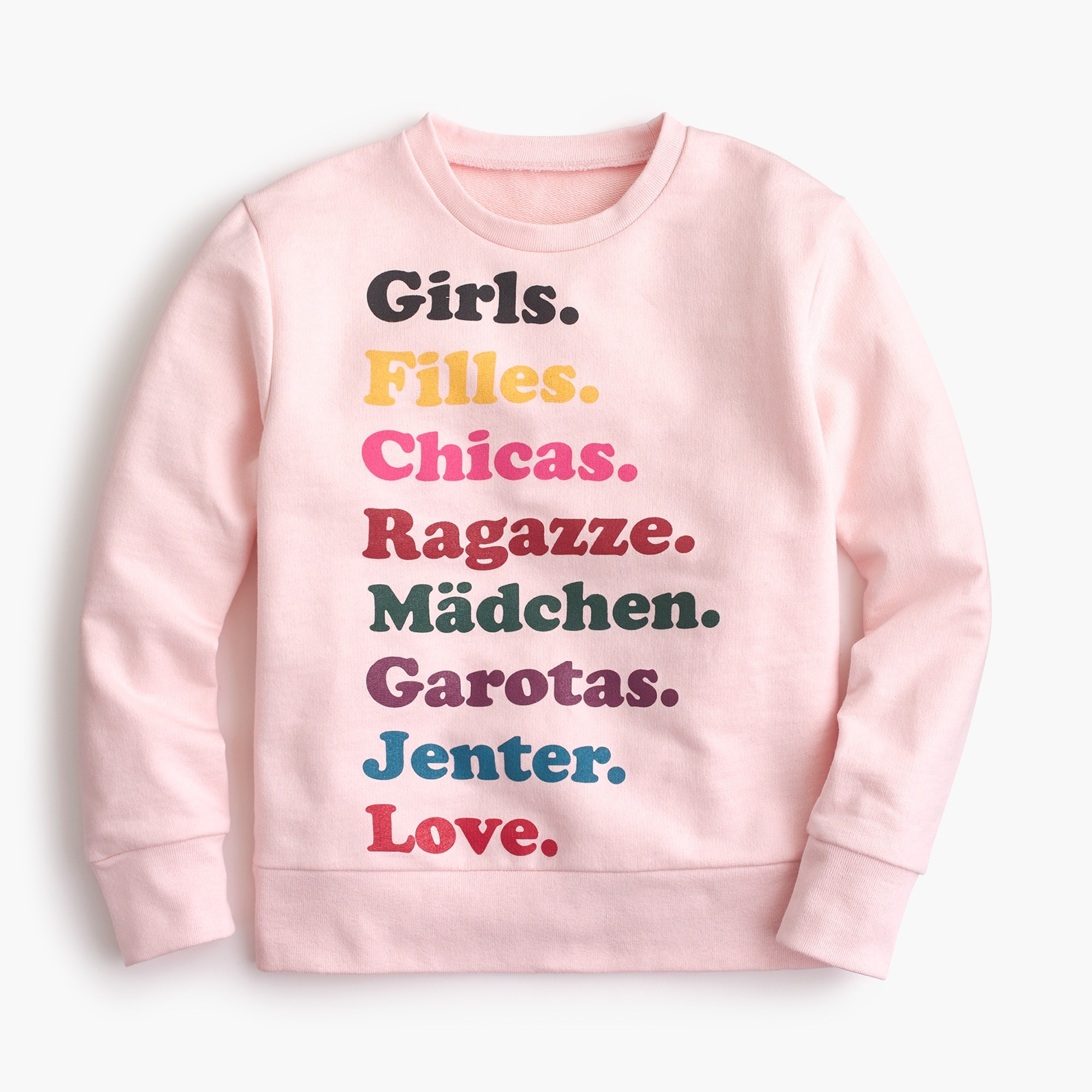"factory girls Kids' crewcuts x Girls Inc. ""Girls. Love."" sweatshirt"