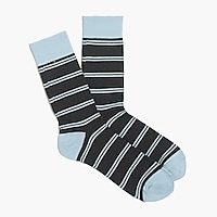 Tipped double-striped socks