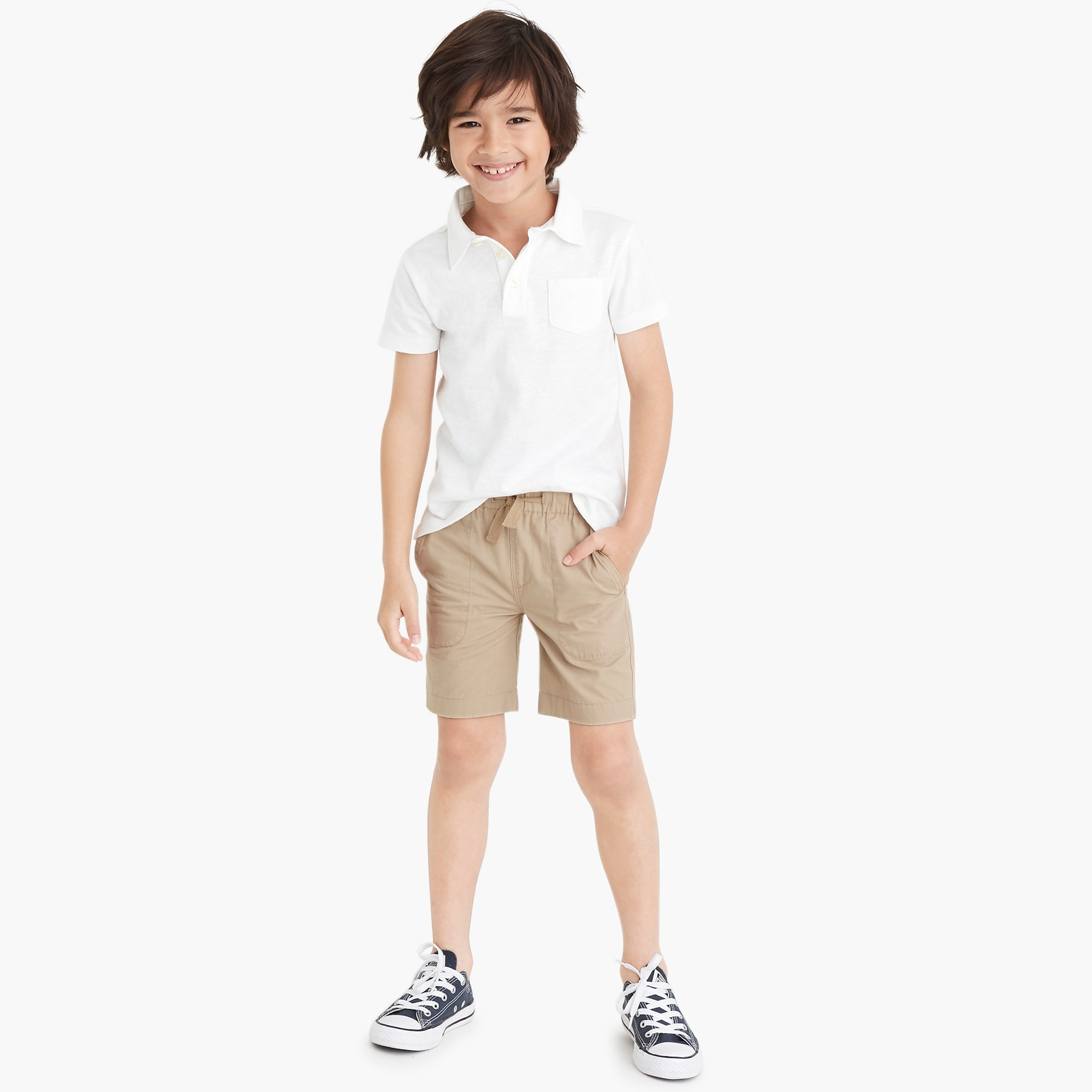 j.crew factory: boys' pull-on short in lightweight chino