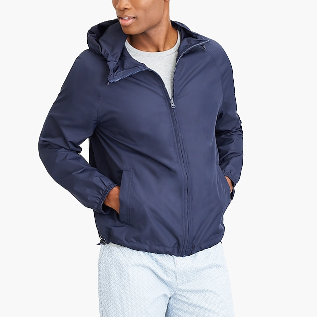 j.crew factory: packable rain jacket