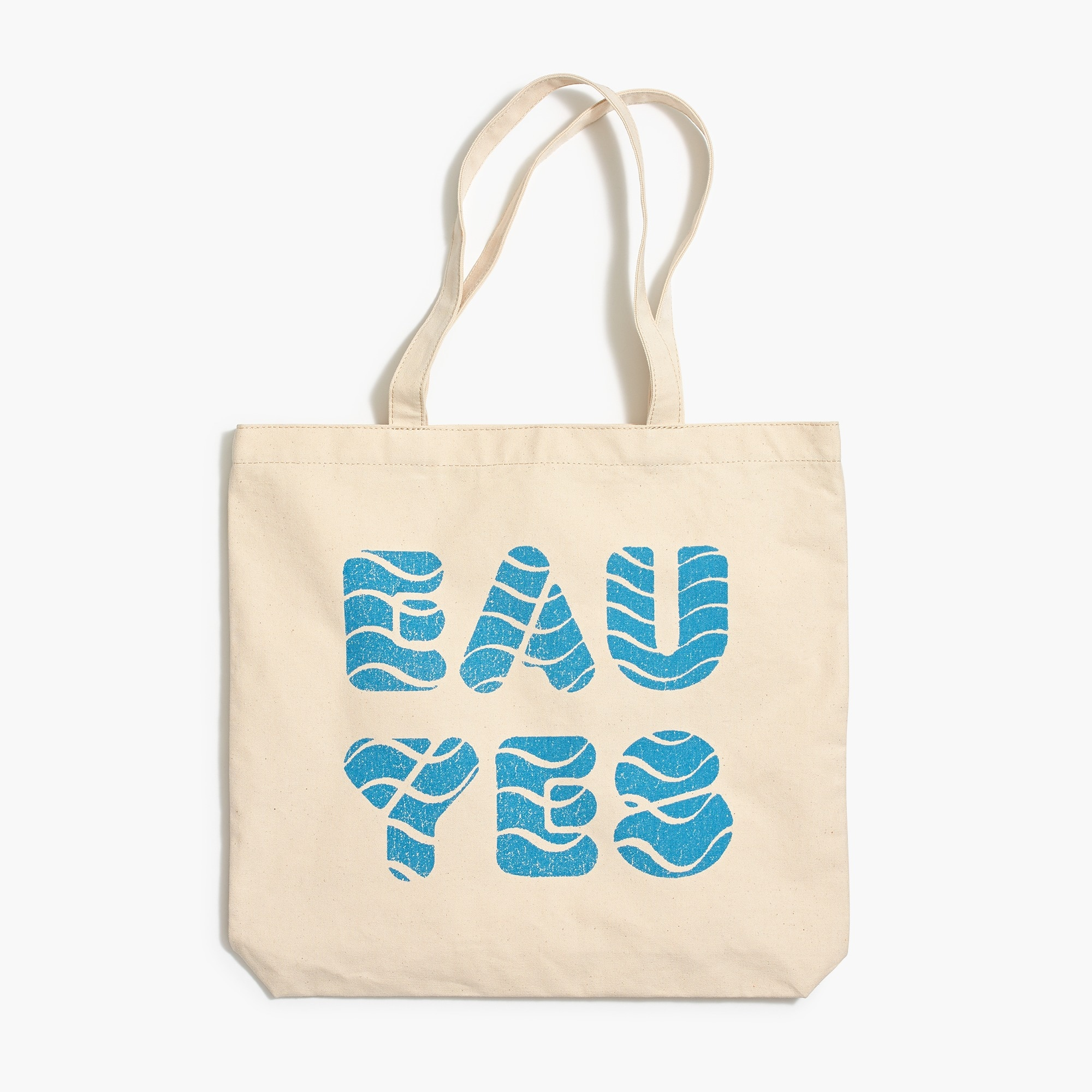 "j.crew x charity: water ""eau yes"" canvas tote bag : factorywomen home & gifts"
