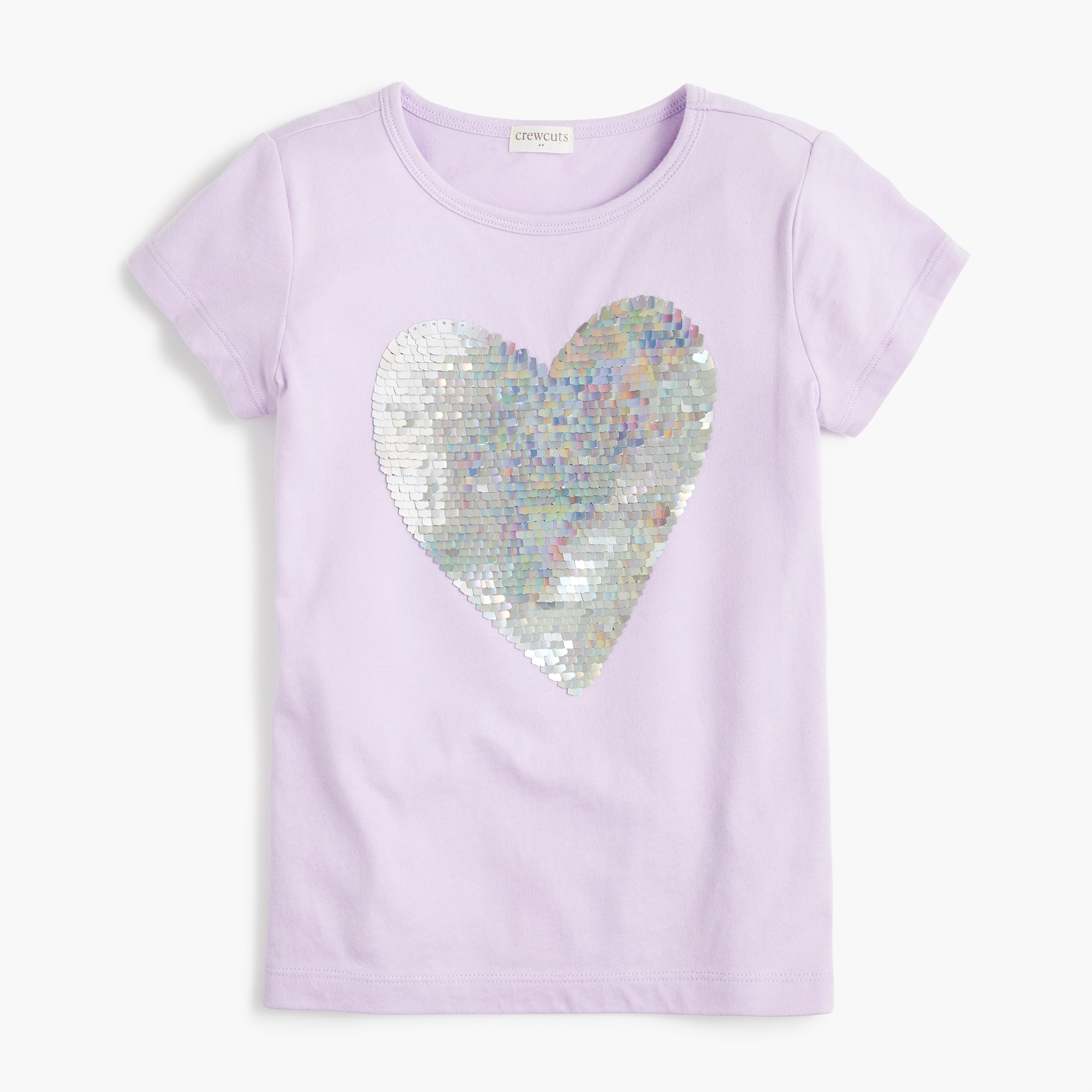 factory girls Girls' T-shirt with sequin heart