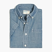 Image 2 for Boys' short-sleeve chambray shirt