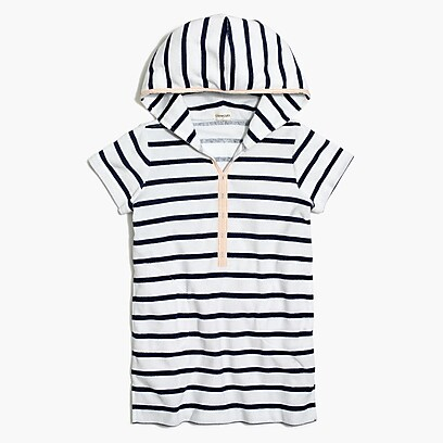 factory girls Girls' terry hoodie dress in stripe