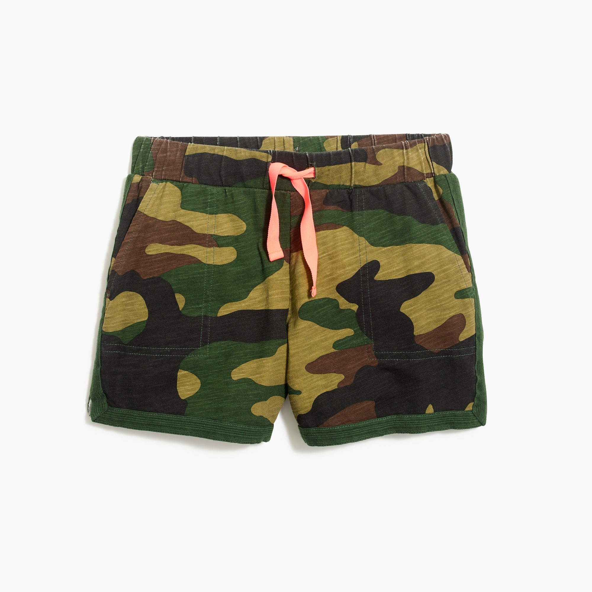 Girls' pull-on short in camo