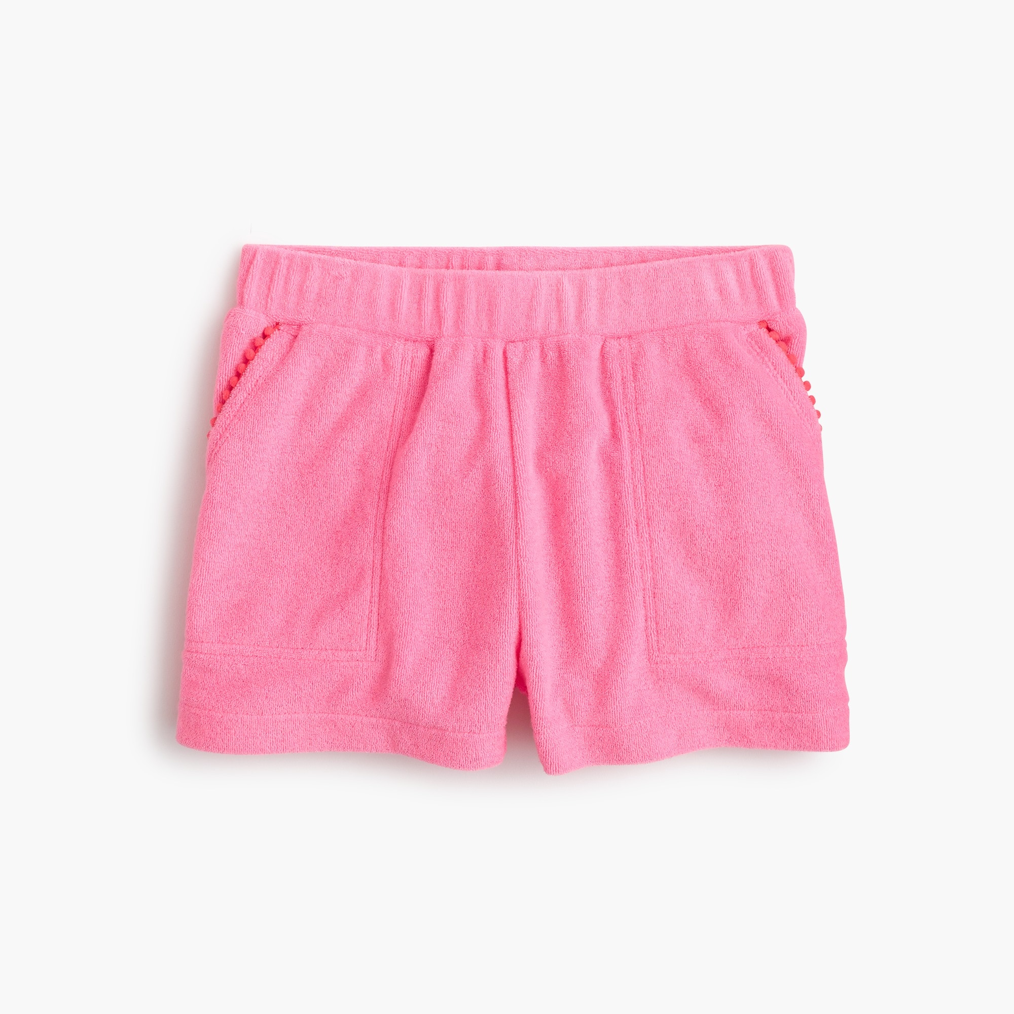 Girls' terry pull-on short