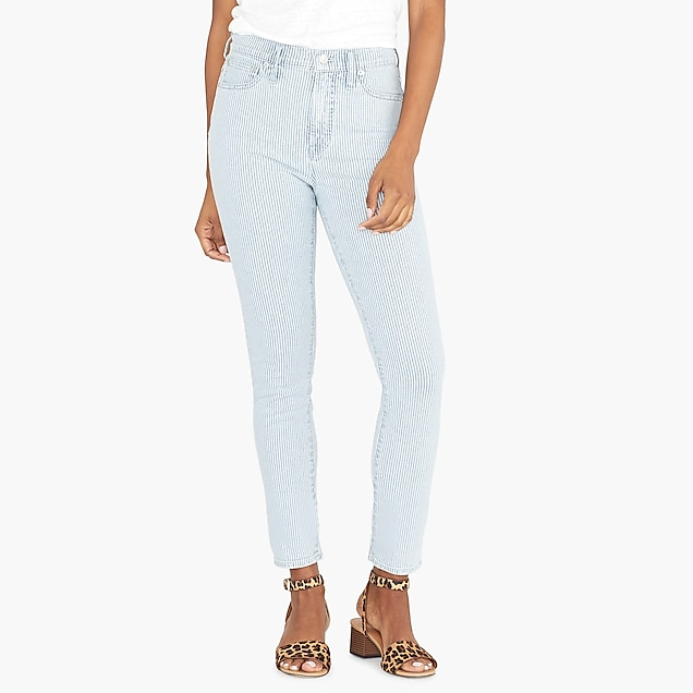 j.crew factory: 10 highest-rise skinny jean with piper stripe
