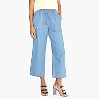 Image 1 for Chambray utility drawstring pant