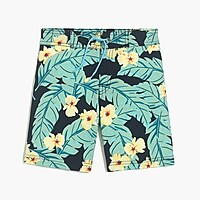Boys' board short in jungle print