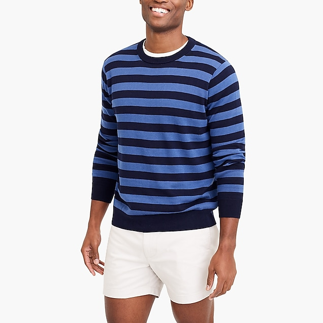 j.crew factory: striped crewneck sweater in cotton
