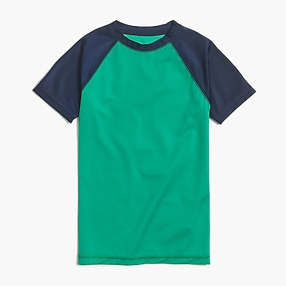 factory boys Boys' short-sleeve rashguard in colorblock