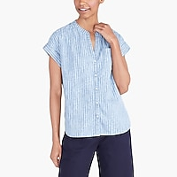Image 1 for Striped chambray camp shirt