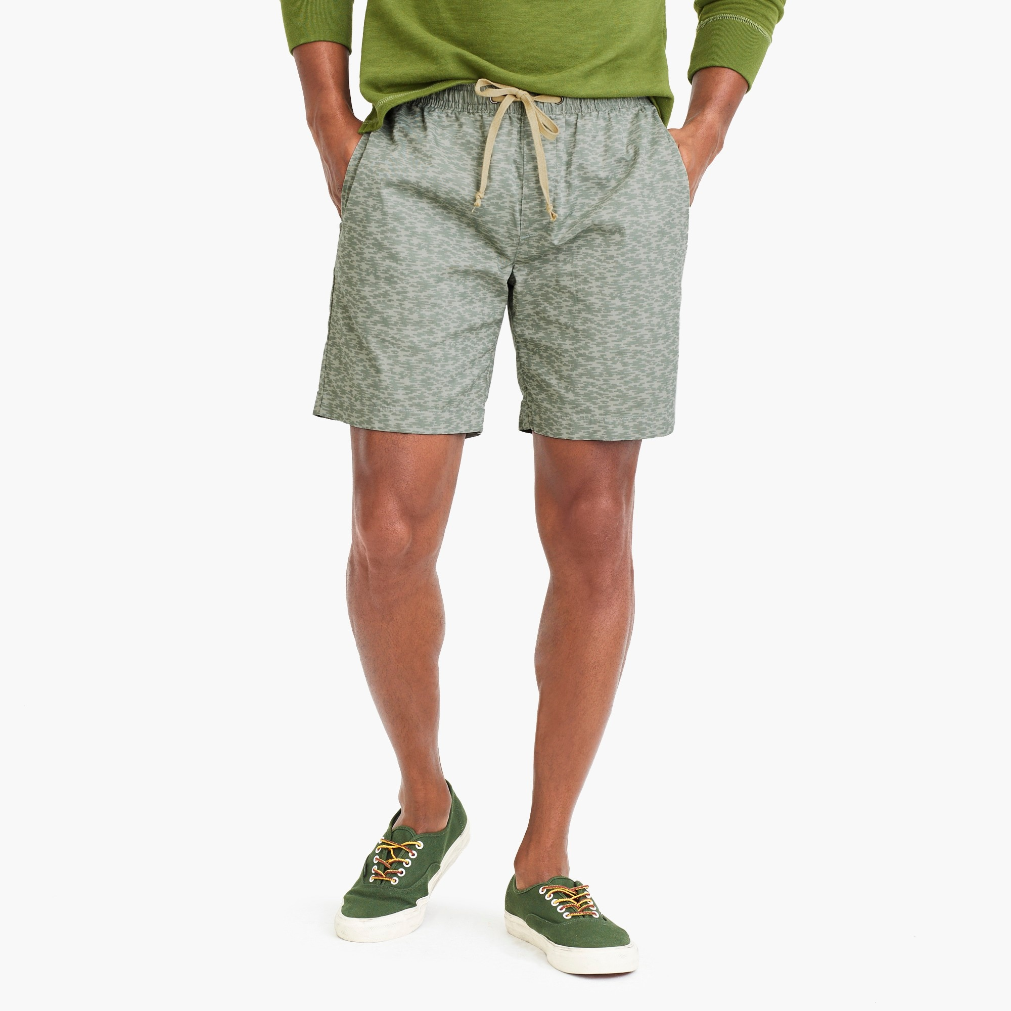 "factory mens 7"" lightweight drawstring chino short"