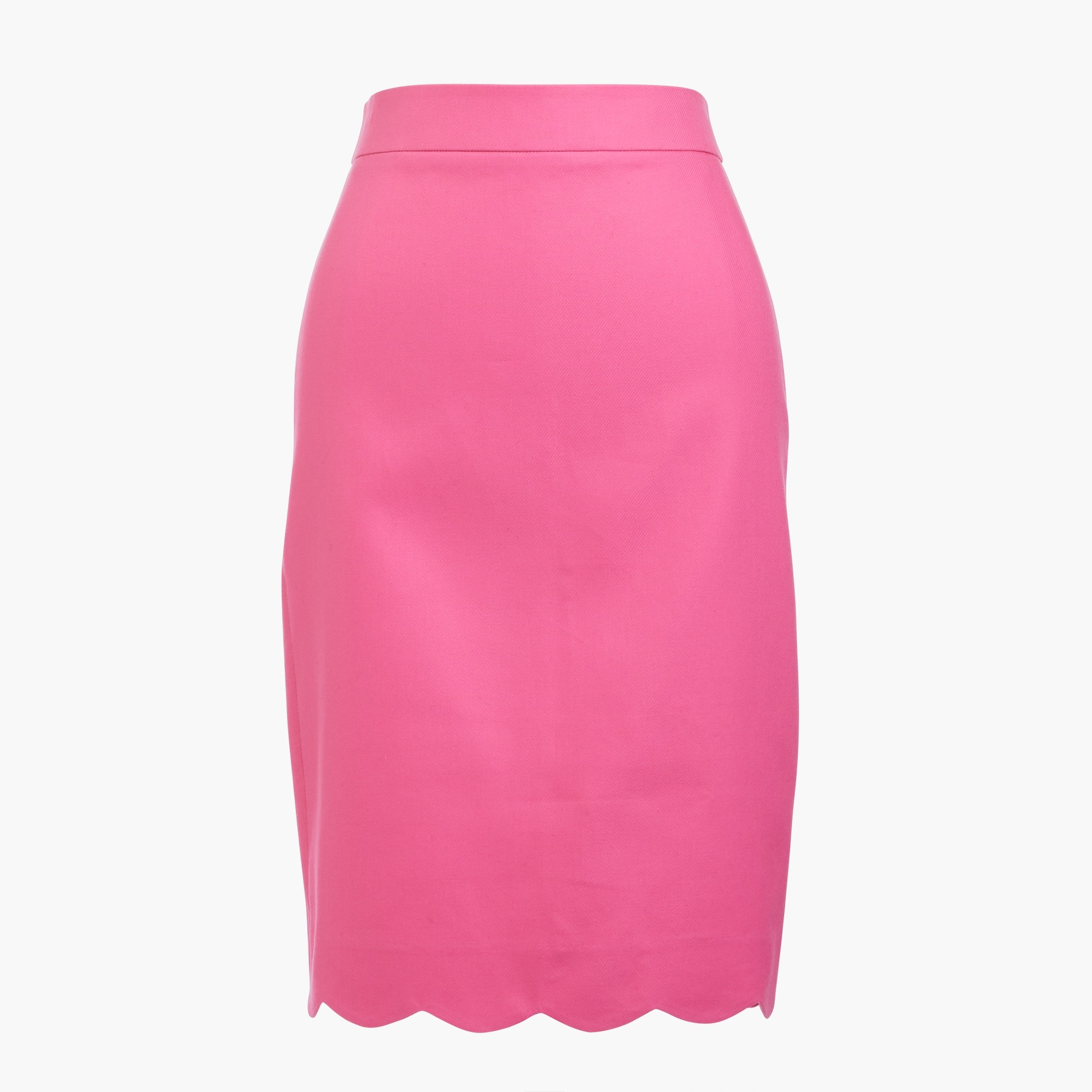 Scalloped pencil skirt