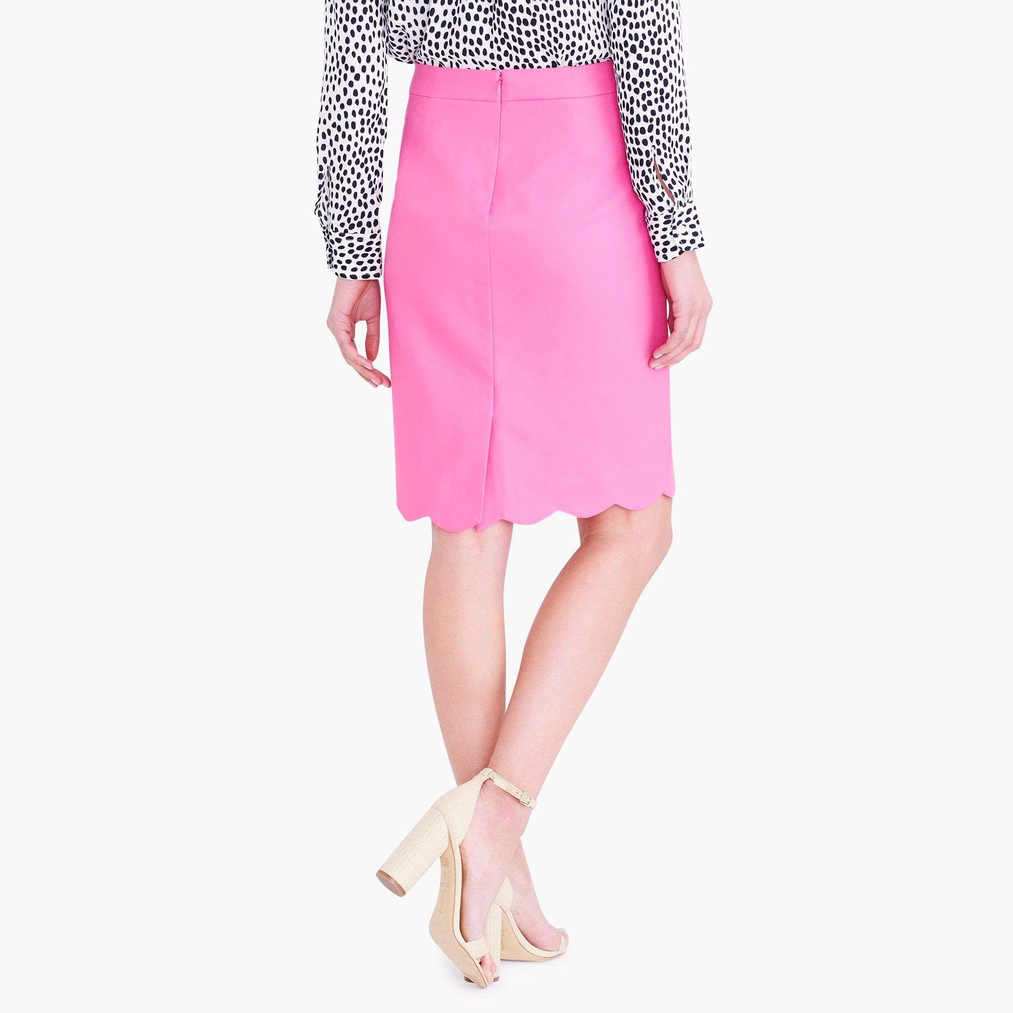 Image 3 for Scalloped pencil skirt