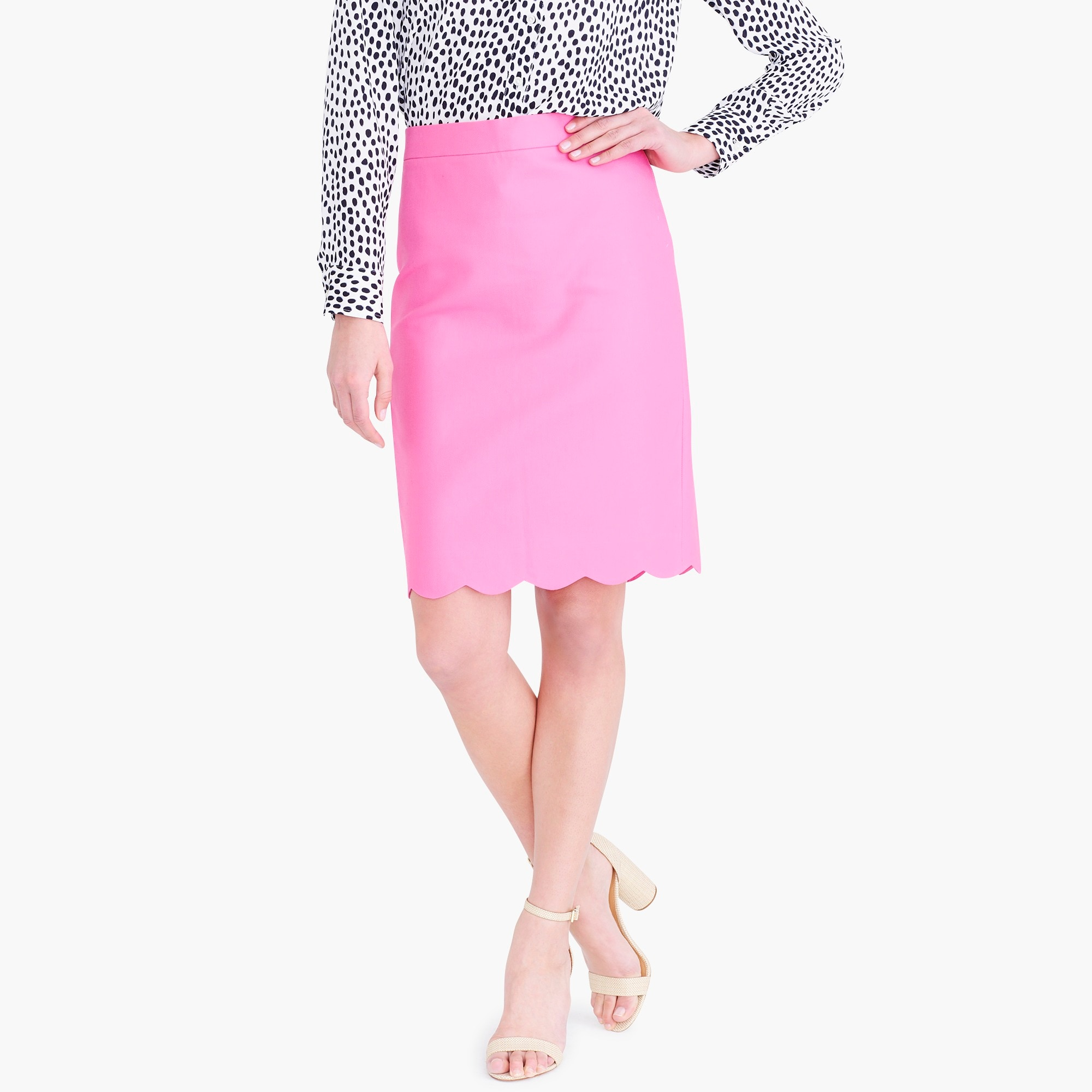 Image 1 for Scalloped pencil skirt
