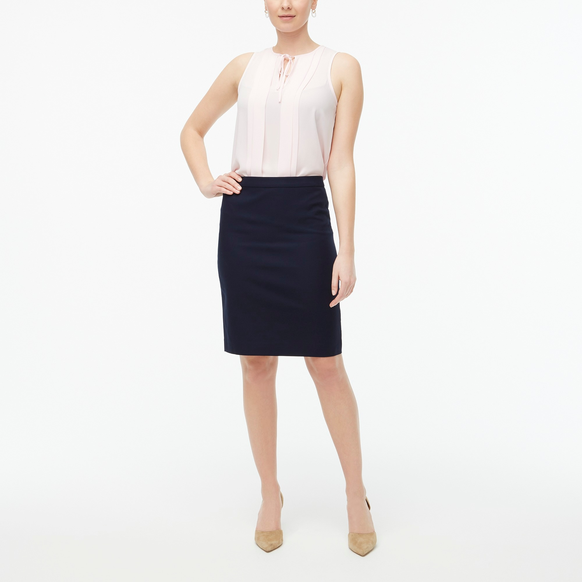 factory womens Cotton work pencil skirt