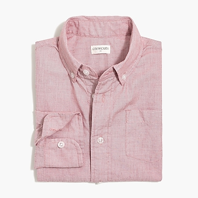factory boys Boys' long-sleeve flex washed solid shirt