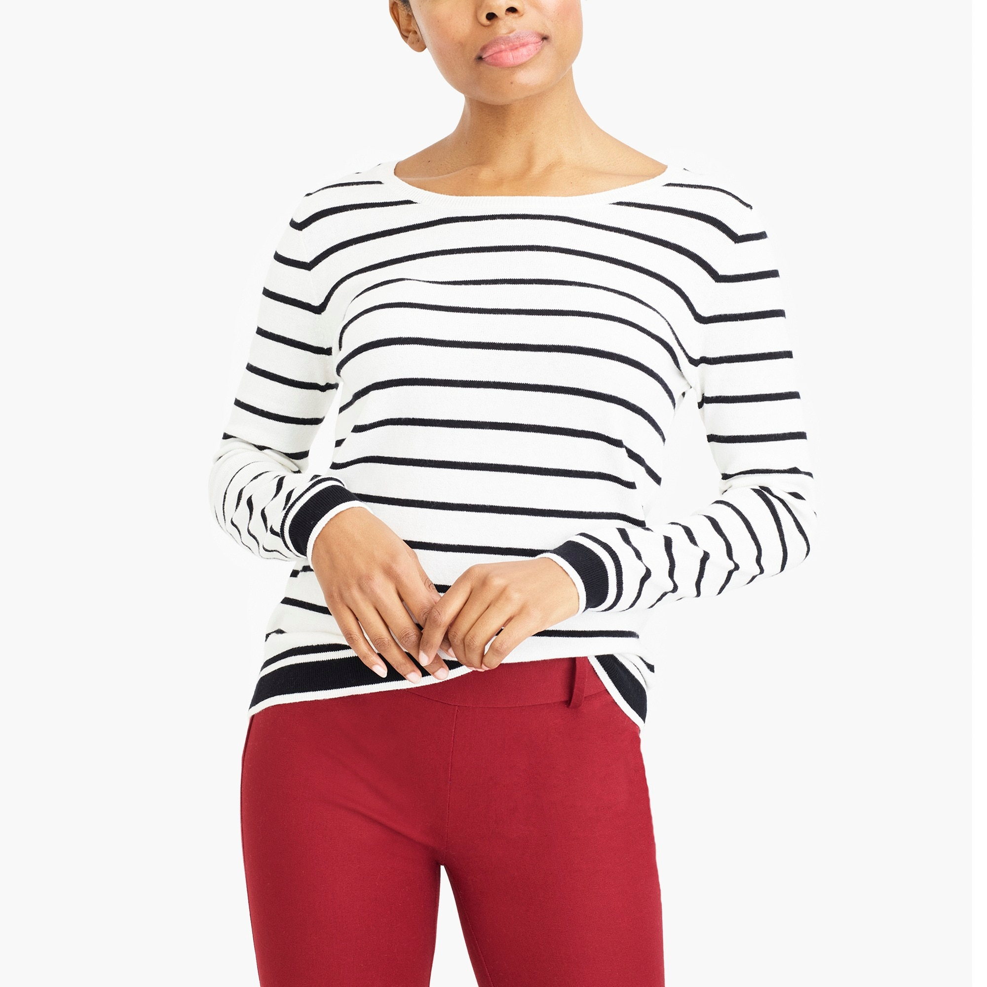 peyton mixed-stripe sweater : factorywomen pullovers