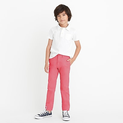 factory boys Boys' slim pant in flex chino