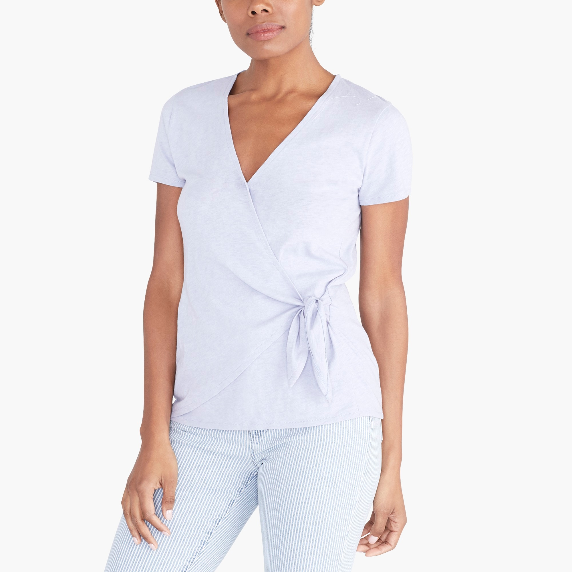 factory womens Wrap-tie T-shirt