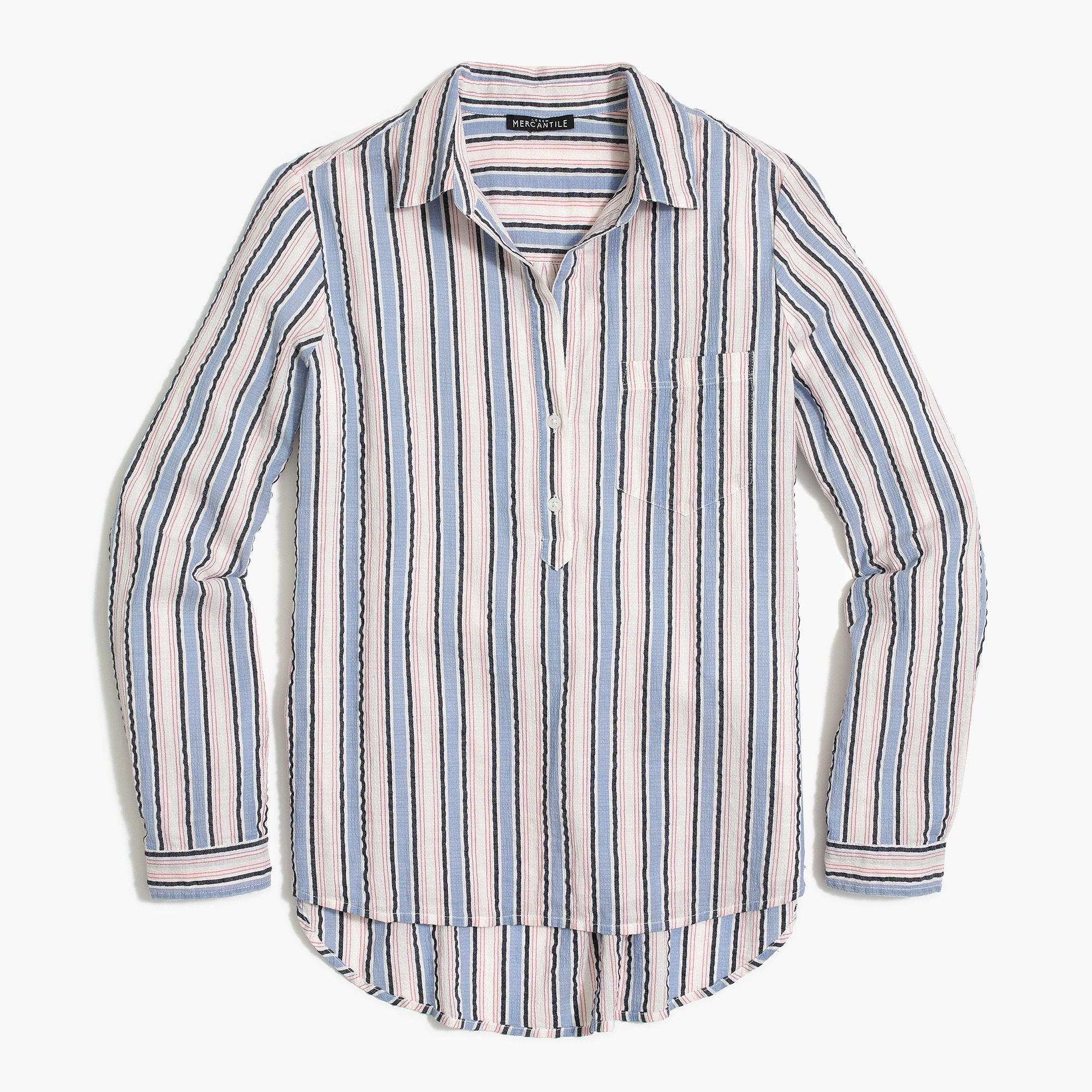 Pullover button-up shirt
