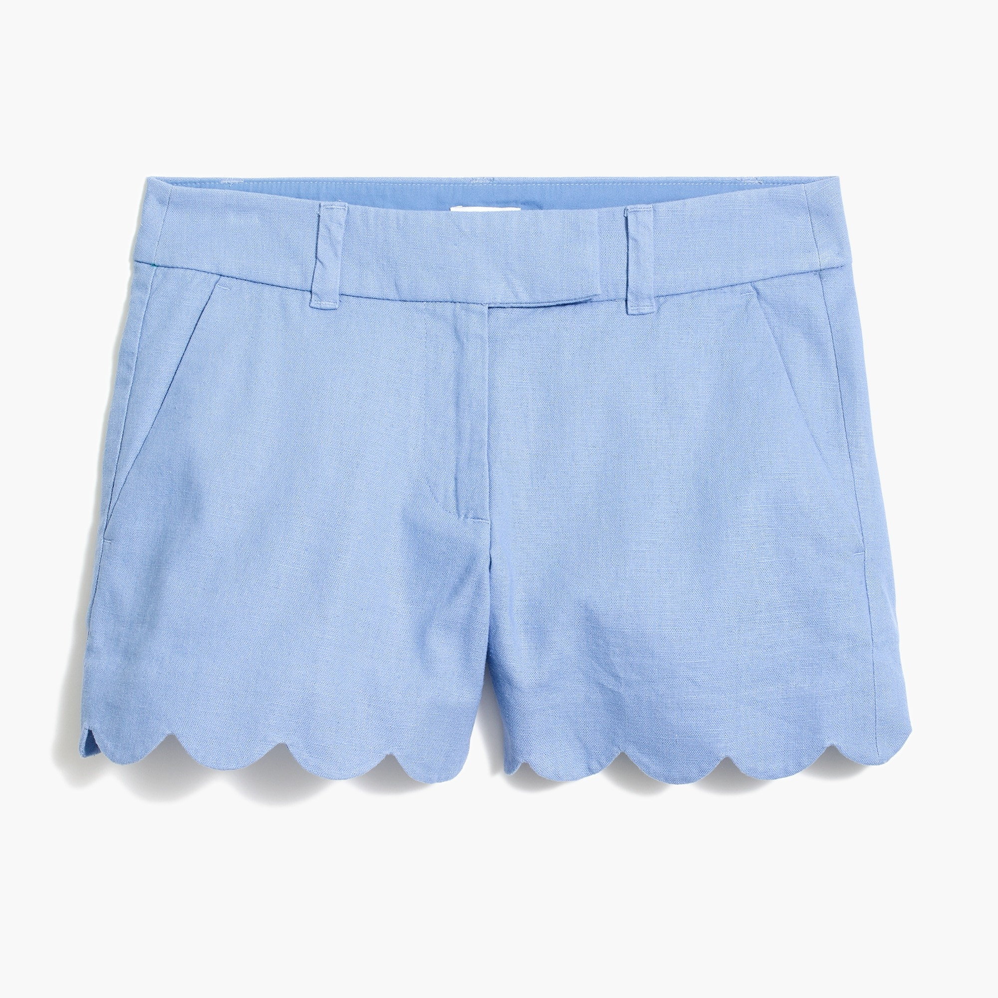 "factory womens 4"" scalloped hem short"