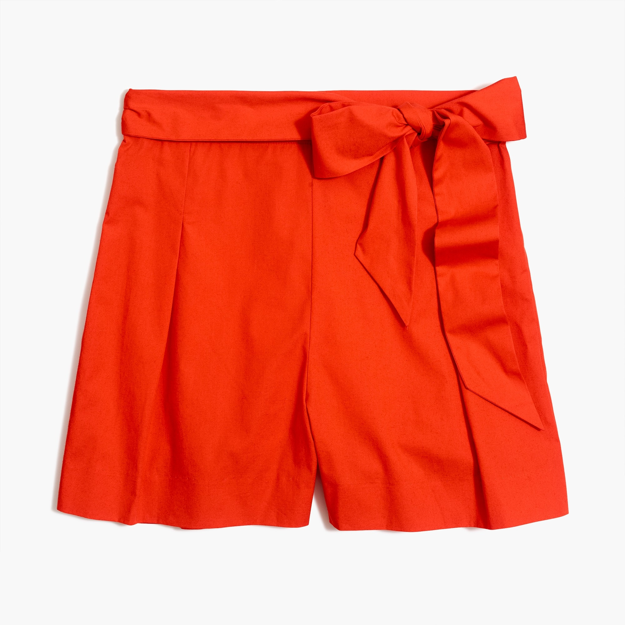 factory womens Tie-waist short in organic cotton