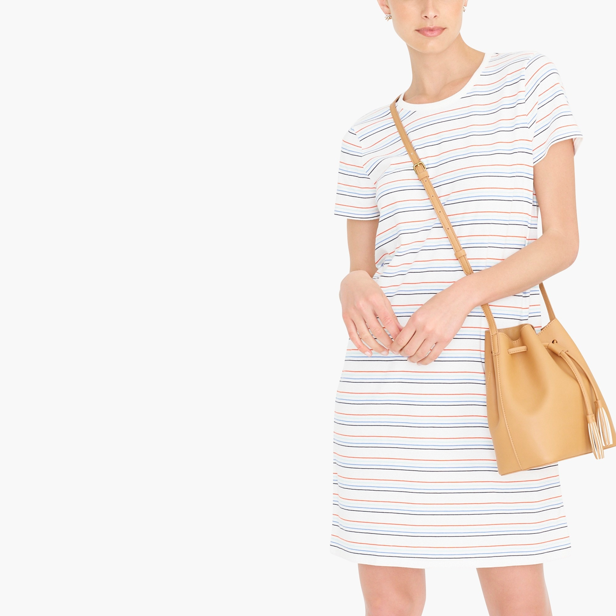 factory womens Striped T-shirt dress