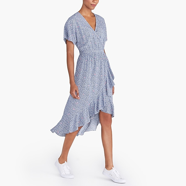 j.crew factory: v-neck high-low ruffle-hem dress