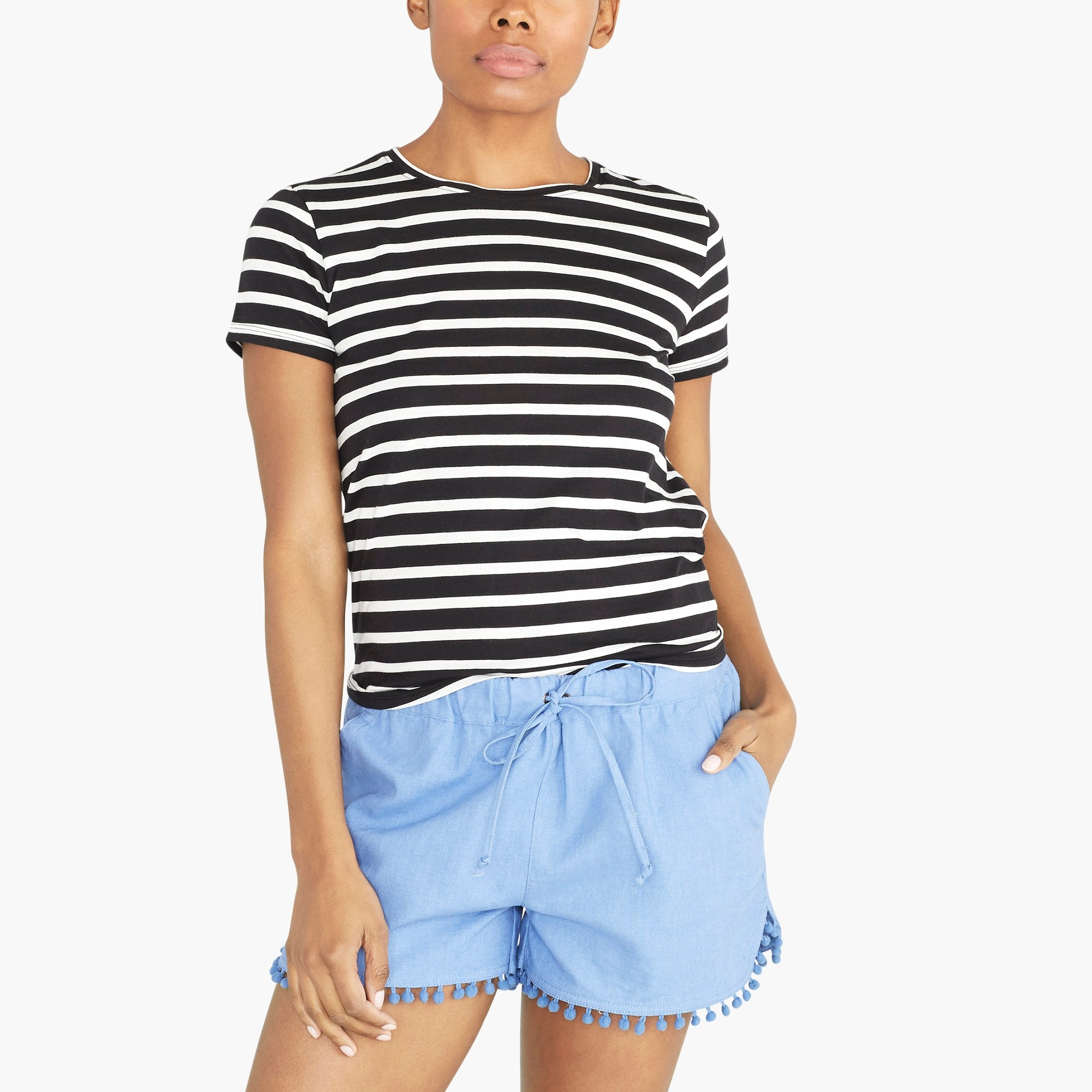 Image 2 for Striped tie-back T-shirt