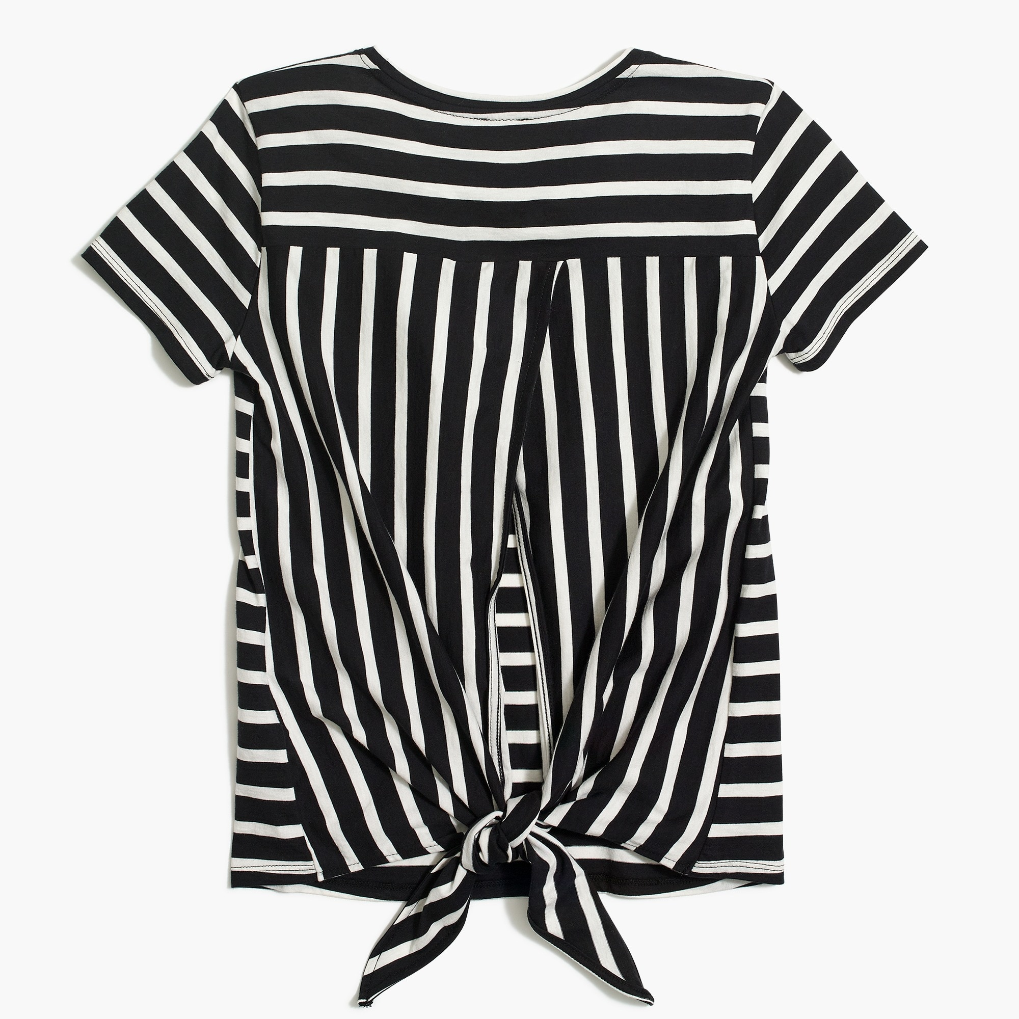 Image 3 for Striped tie-back T-shirt