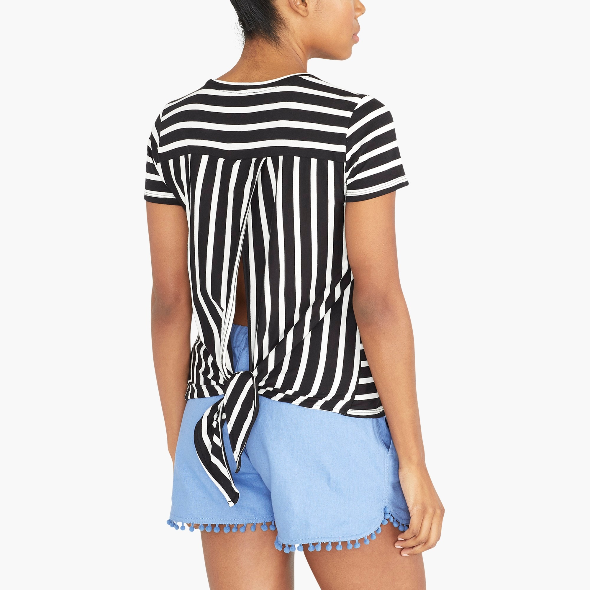 Image 1 for Striped tie-back T-shirt