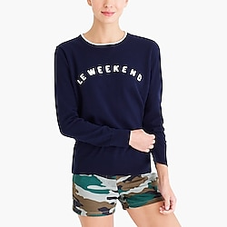 """Le weekend"" sweatshirt"