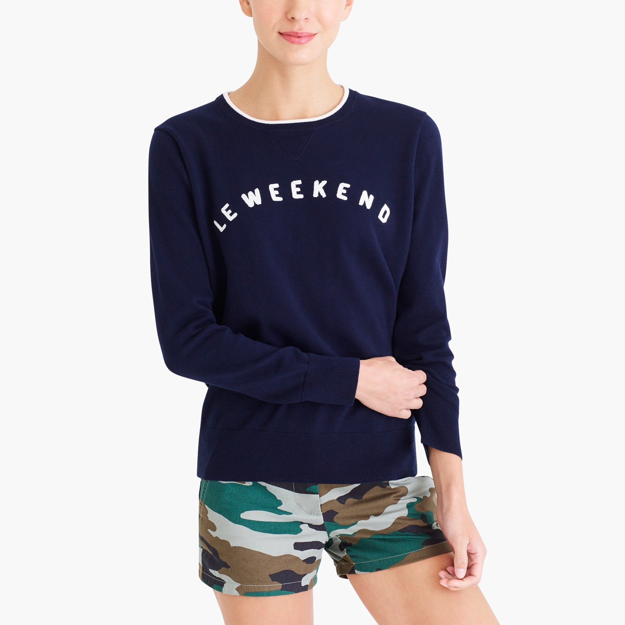 "factory womens ""Le weekend"" sweatshirt"