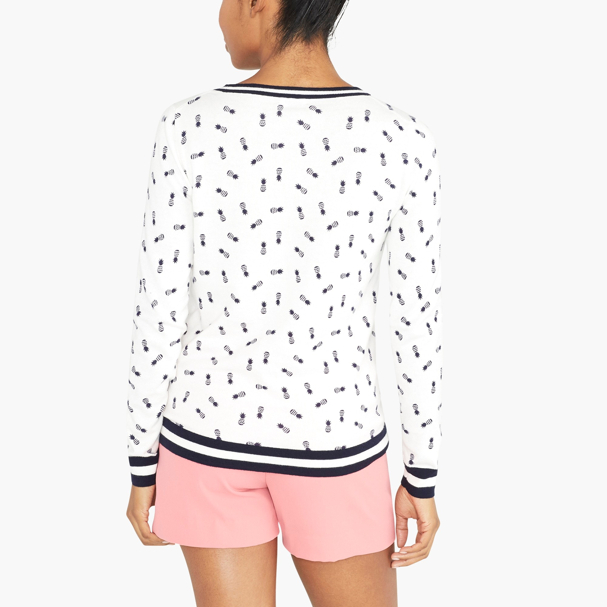 Pineapple print Teddie sweater