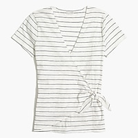 Image 2 for Striped tie-wrap T-shirt