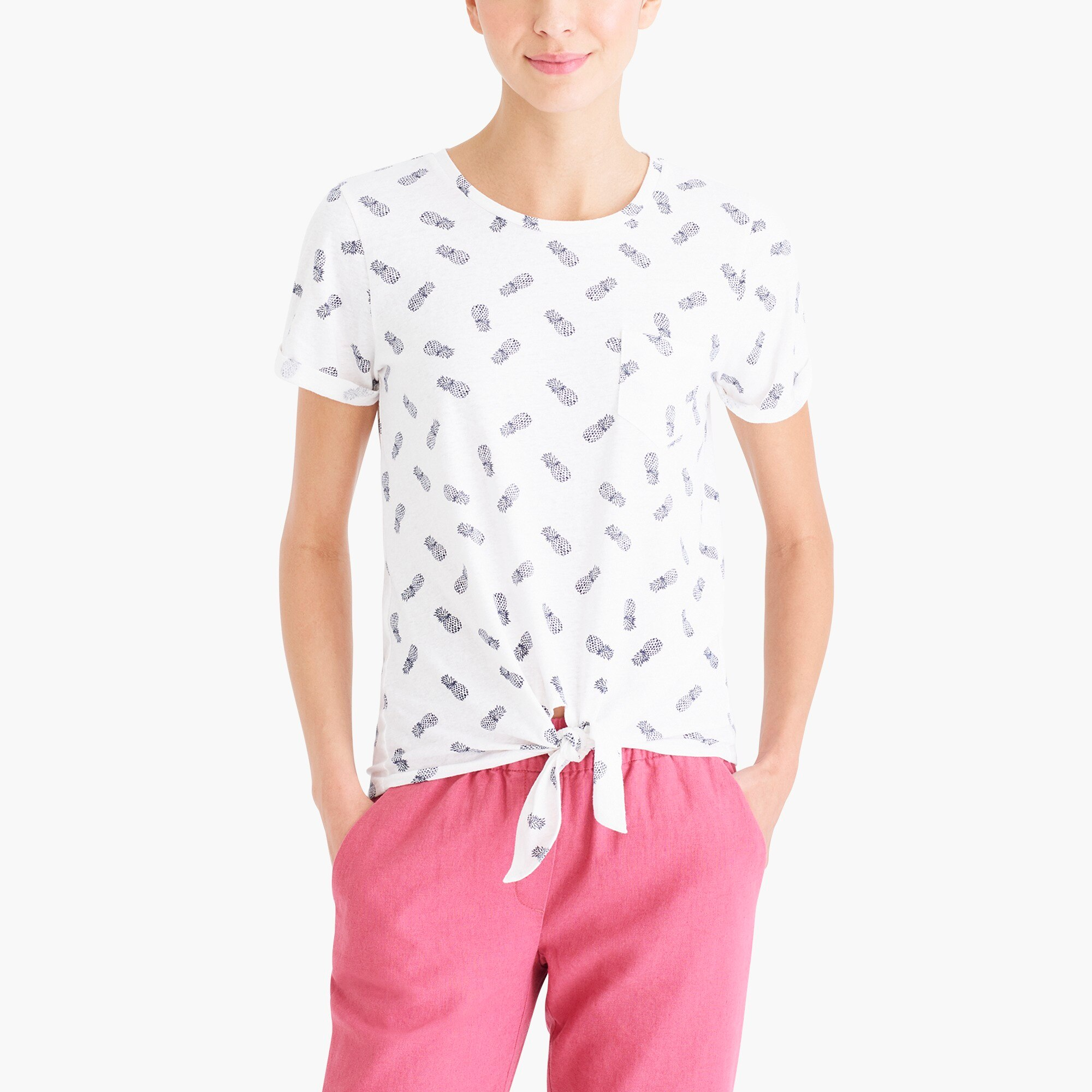 Image 1 for Pineapple tie-waist T-shirt