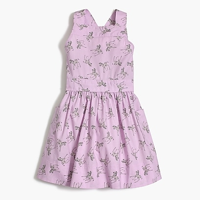 factory girls Girls' apron dress in zebra print