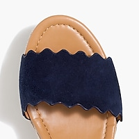 Image 2 for Suede scalloped flatform espadrilles