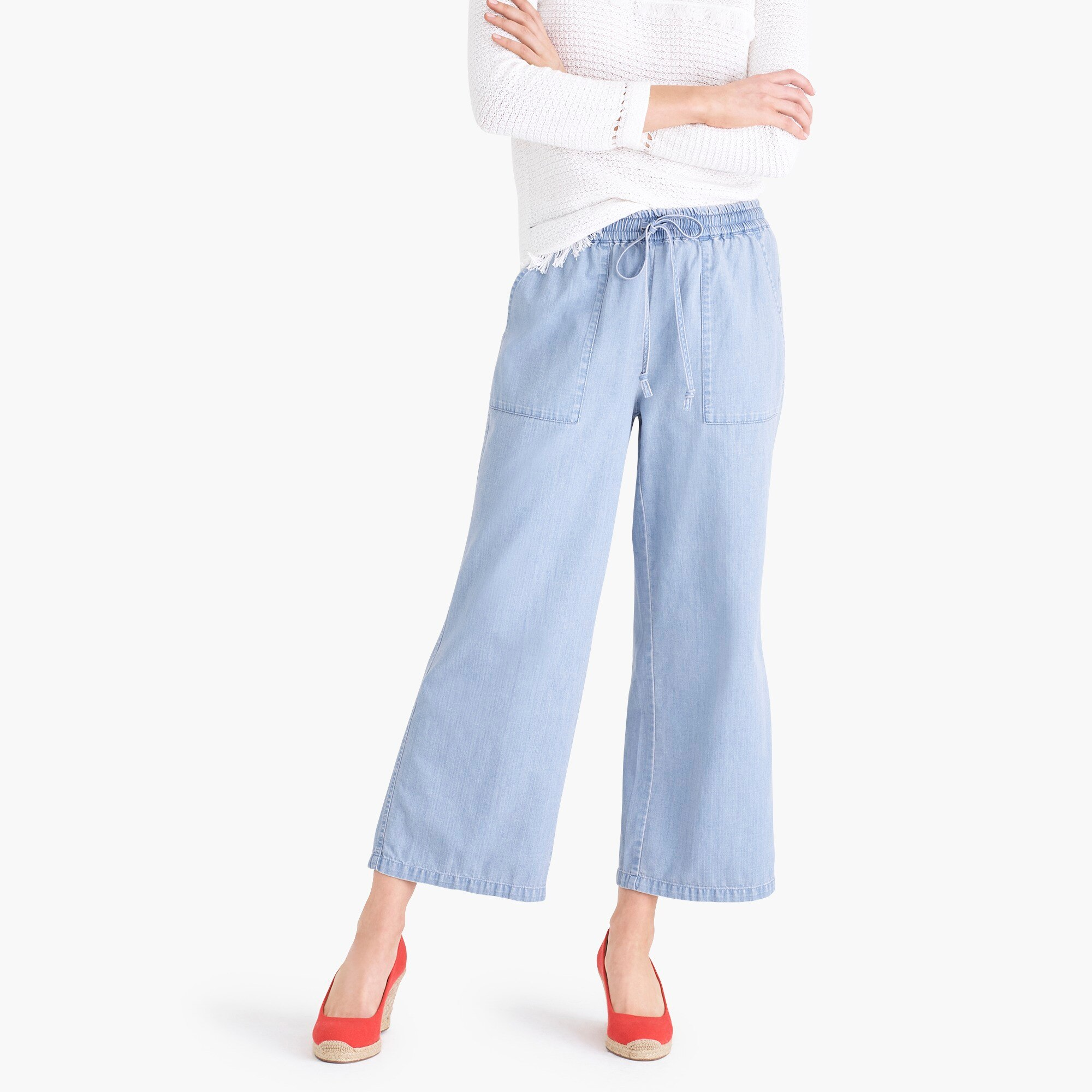 factory womens Chambray drawstring pant