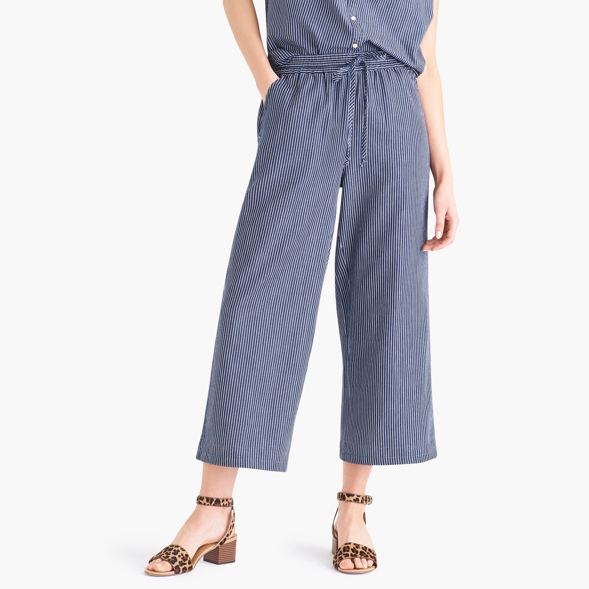 factory womens Stripe drawstring pant