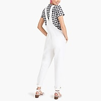 White denim overall