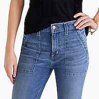 "Image 3 for 10"" highest-rise utility jean in medium wash"