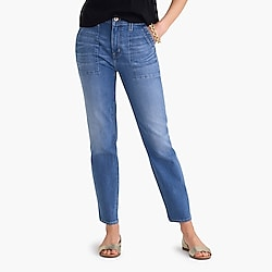 "10"" highest-rise utility jean in medium wash"